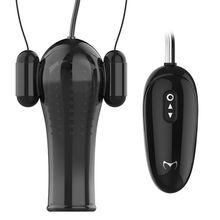 New Glans Training Set Penis Vibrator Multi-Speed Bullet Masturbator with 2 Love Egs Vacuum Negative Pressure Vibration Massage все цены