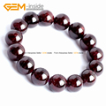 Natural Red Garnet Beads Bracelets Elastic Rope Bracelet For Women Adjustable Length 7.5inch FreeShipping Wholesale Gem-inside
