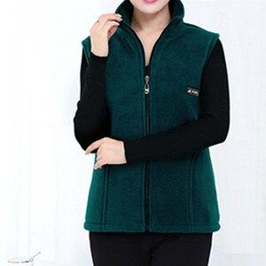 Image 3 - Uhytgf 2020 新フリース女性ベスト秋韓国プラスサイズノースリーブジャケット女性ファッションジッパーカジュアルチョッキの女性 442