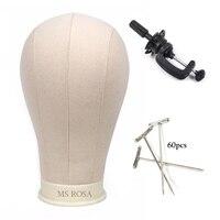 MS ROSA Beige Canvas Block Head Wig block Head Sale Styling Mannequin Manikin Head Wig Stand