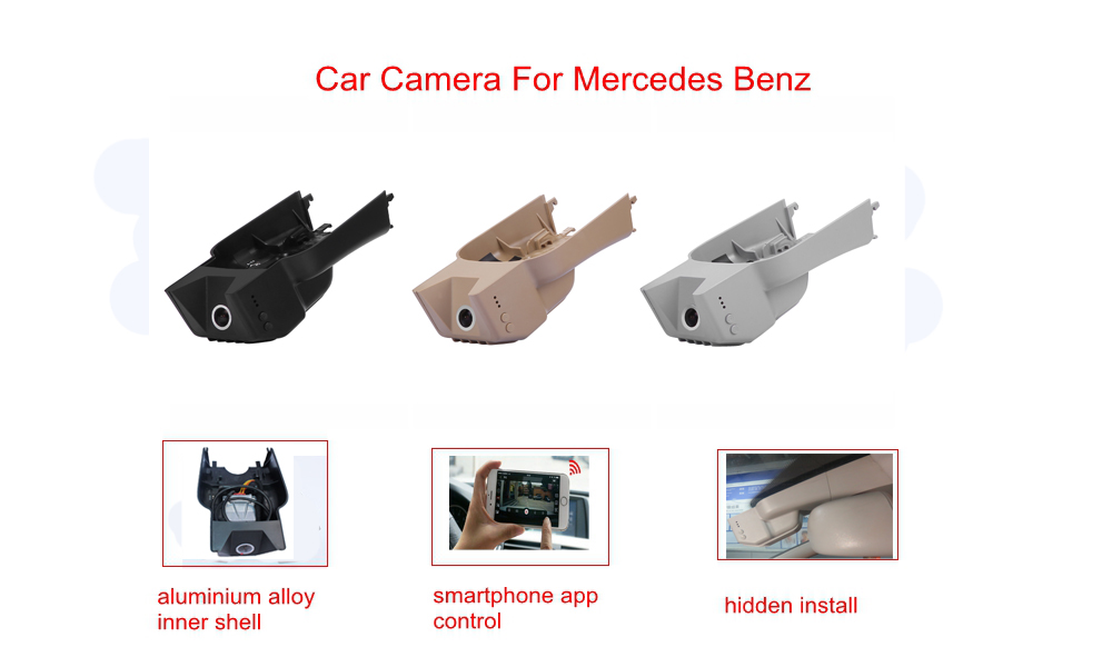 PLUSOBD For Mercedes Benz GL/M R W164/X164/W251 Special DVR Hidden OEM Style Hidden Design Full HD 1080P WIFI Car Camera