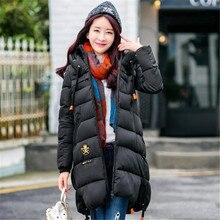 Европейский Станция 2016 Зима Новый женщин Вниз Куртки Хлопка Длинный Абзац Толстая Одежда Высокое Качество