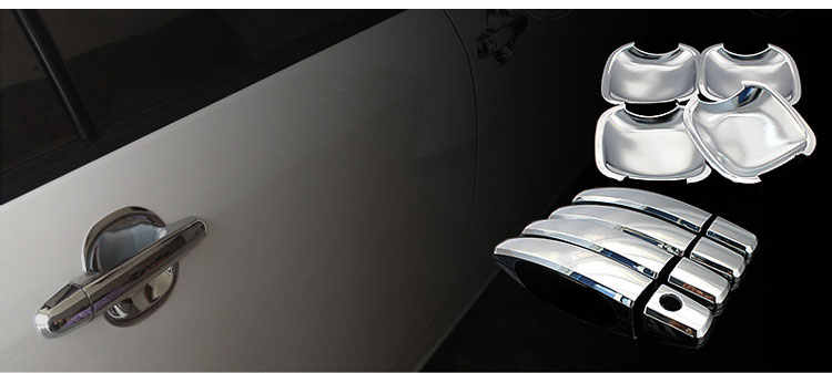Pour Opel Holden Vauxhall Astra H luxueuse poignée de porte chromée 5 portes 3 portes Wagon bâches de voiture accessoires autocollants style voiture