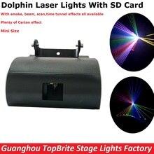 NOWY Projekt 1 W RGB Full Color Dolphin Światła Laserowego Z SD karta Dla Xmas Party Pokaż Klub Bar Pub Halloween Dekoracje Ślubne