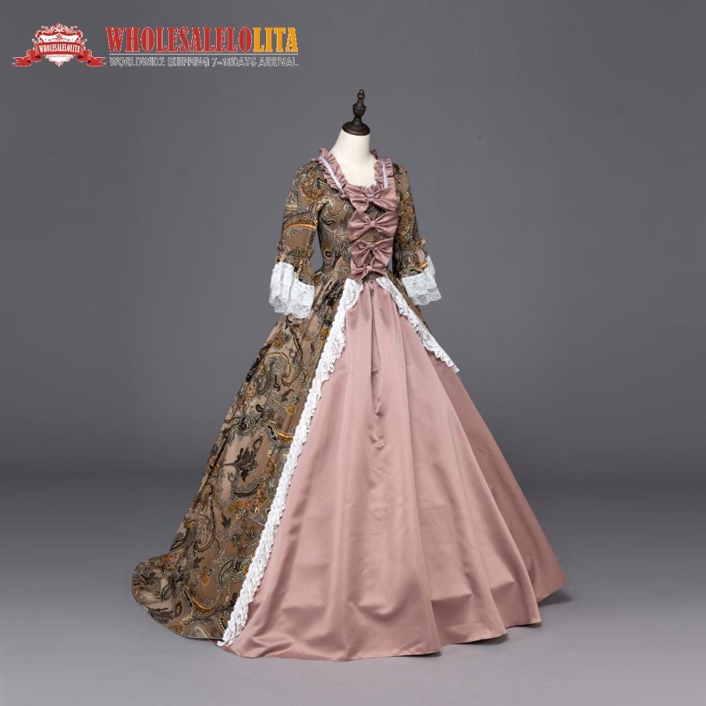 Haute qualité sud Belle Renaissance géorgienne Marie Antoinette coloniale brocart robe de bal robe Steampunk vêtements