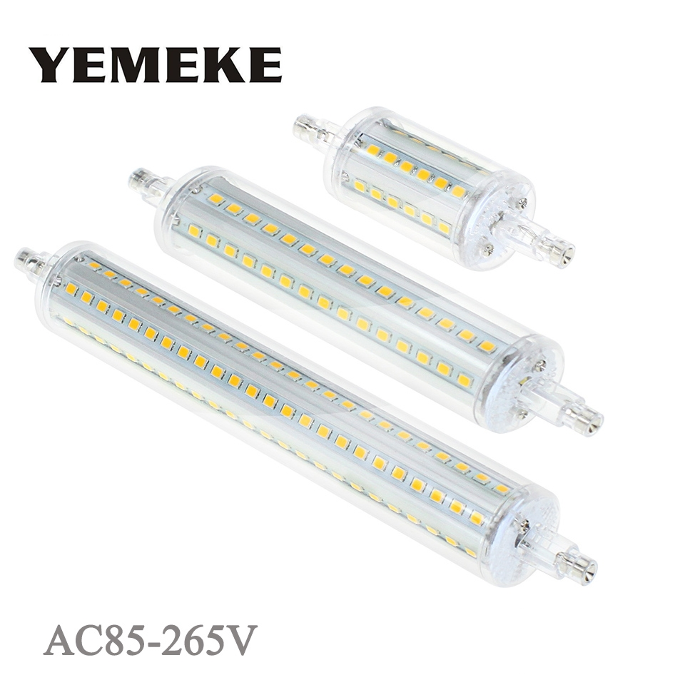 R7S LED Bulb Lamp 5w 8w 10w 13w SMD 2835 LED Corn Bulbs 360 Degree 78 118 135 189mm Lampadas AC85-265V Lantern Replace Halogen high power dimmable 189mm led r7s light 50w cob r7s led lamp with cooling fan replace 500w halogen lamp