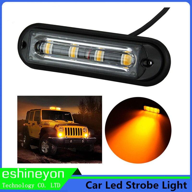 waterproof car truck led emergency strobe light vehicle flash warning. Black Bedroom Furniture Sets. Home Design Ideas