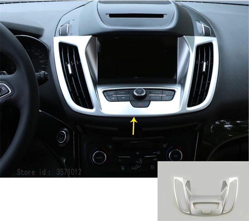 1x for Ford Kuga Escape 2017-2018 ABS Inner Dashboard Navigation Frame Trim