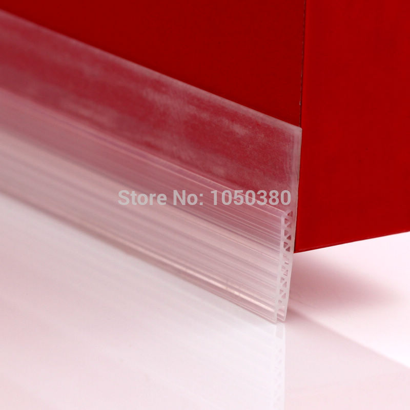 Acoustic Draft Stopper Door Bottom Seals Acrylic Adhesive Silicone Threshold Seals 28x910mm 45 x 1200mm Brown White Transparent
