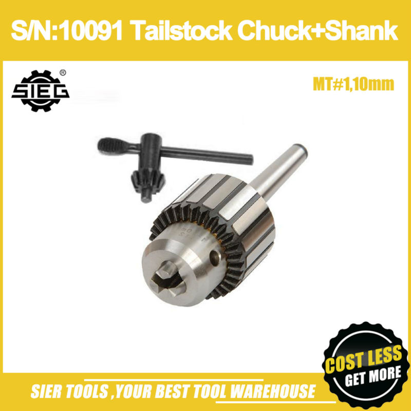 Free Shipping!/S/N:10091 Tailstock Chuck+Shank/MT#1,10mm Drill Chuck/SIEG C1/M1 ChuckFree Shipping!/S/N:10091 Tailstock Chuck+Shank/MT#1,10mm Drill Chuck/SIEG C1/M1 Chuck