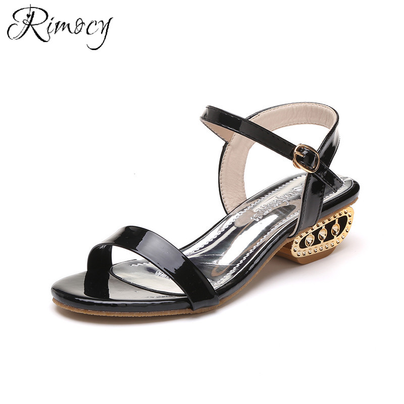 Rimocy Women Sandals Summer Fashion Flip Flops Female Heels Shoes Bohemia Causal Ladies Footwear Solid Shoes Woman size 34-41 2018 new summer women sandals shoes fashion comfortable girls sandals footwear flat sexy causal ladies solid women shoes est1009