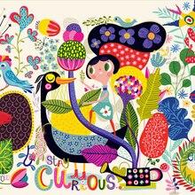 Custom de parede Infantil papel. Beautiful cartoon murals for children's room in the garden wall wat