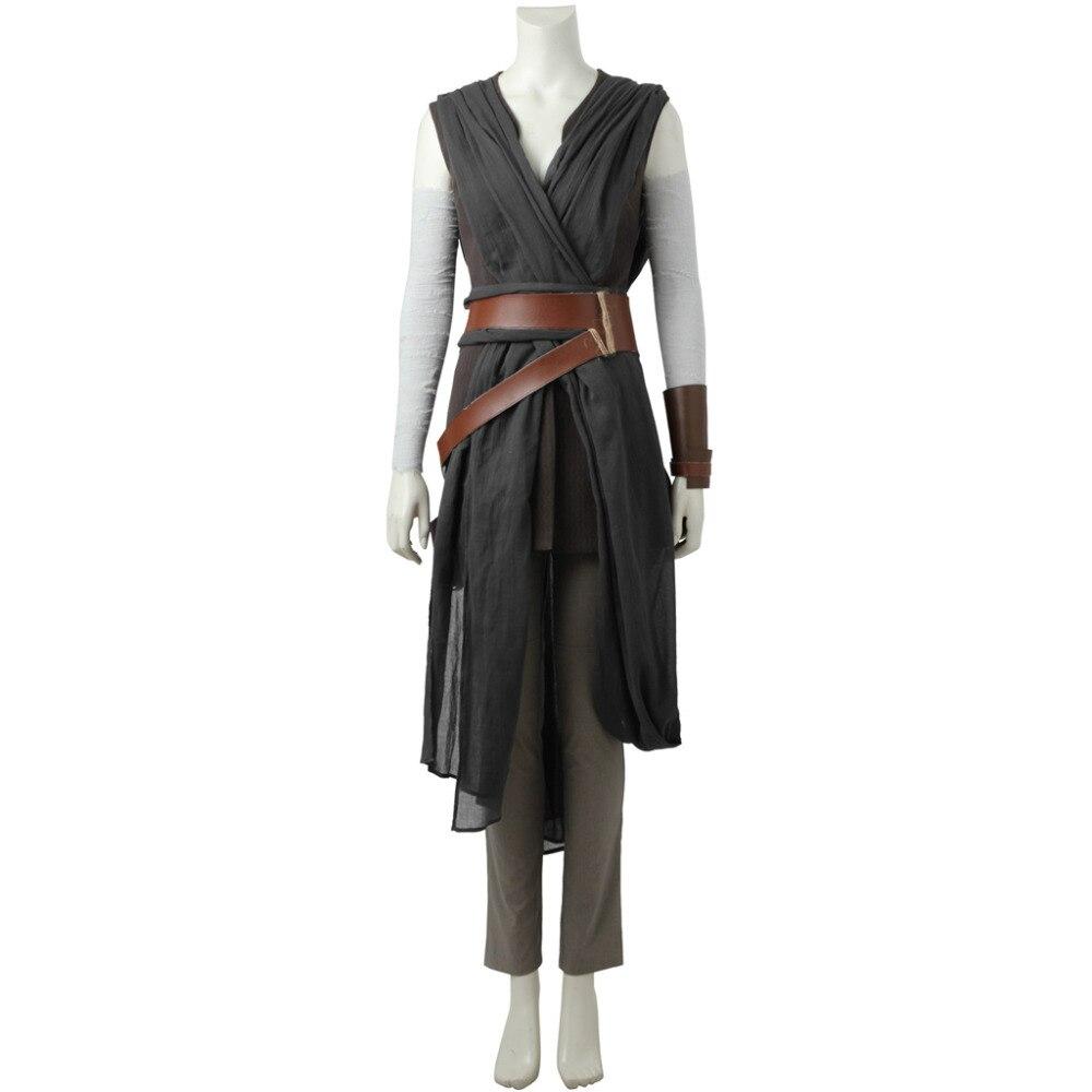 Star Wars Cosplay Star Wars: Épisode VIII La Dernière Jedi Rey Robe Cosplay Costume Halloween Costume Cosplay Version 2