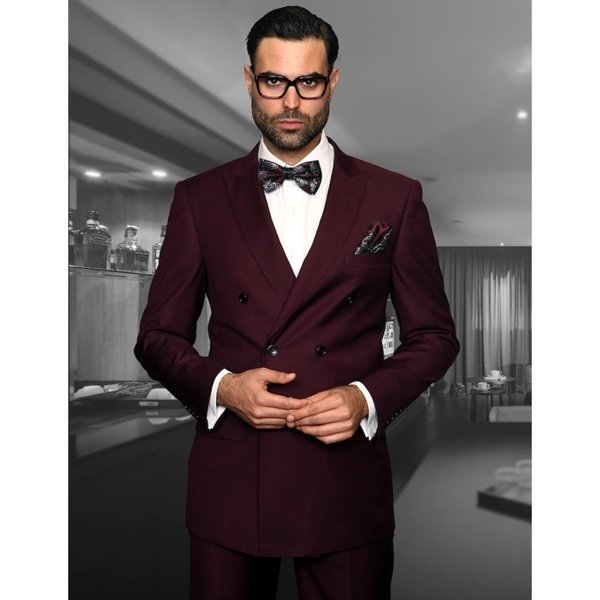 2 Pieces Double Breasted Wedding Suits for Men Slim Fit Groom Tuxedos Prom Party