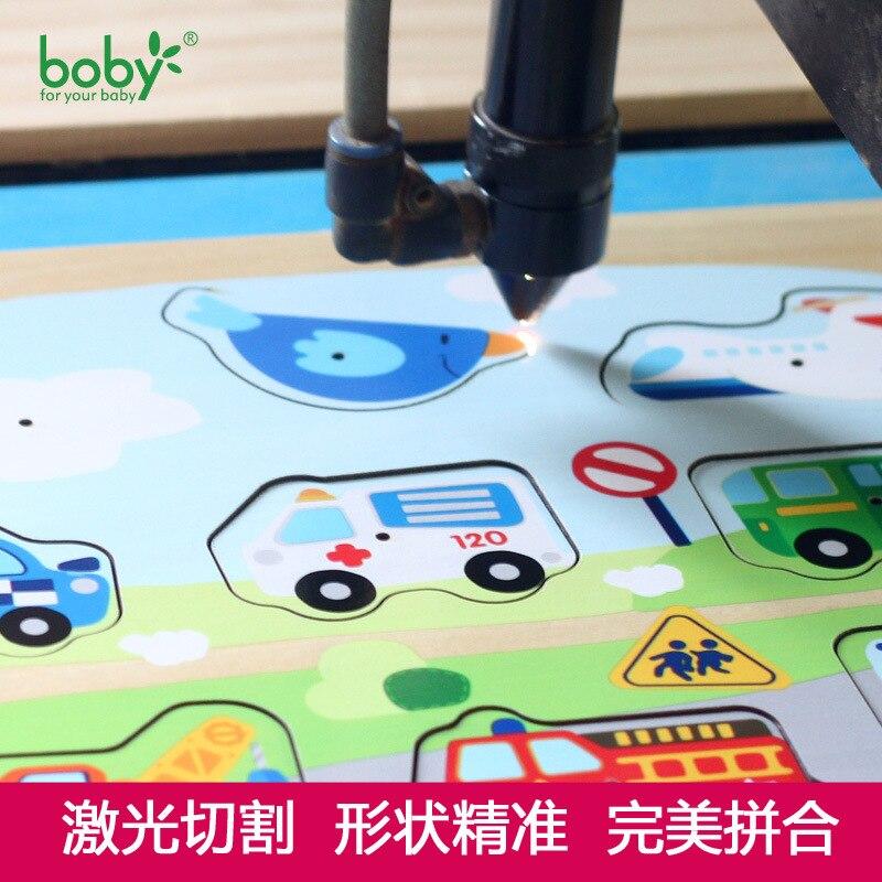 Boby Baby Hand Grasp 3D ხის თავსატეხები - ფაზლები - ფოტო 3