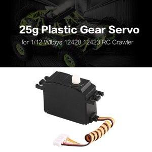 Image 2 - Servo de plástico para direção, 25g servo, volante, para 1/12 wltoys 12428 12423 rc carro caminhão, modelo, acessórios de peça de direção, micro servo rc