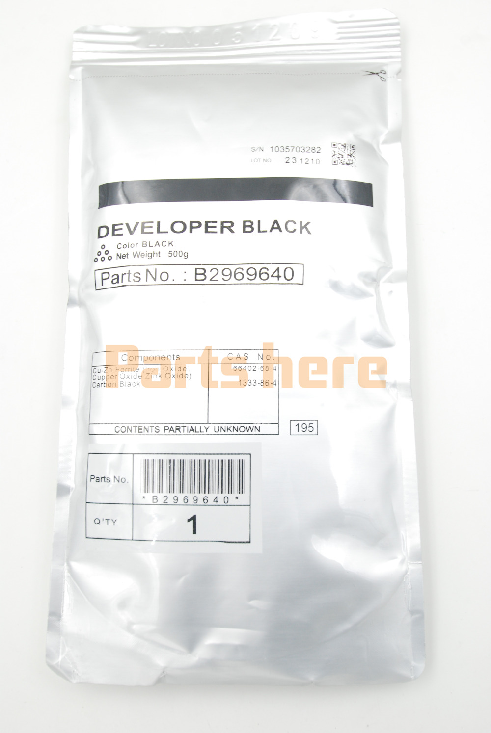 B296-9640 B2969640 Black Developer 500g for Ricoh for Aficio MP 3500 4000 4001 4002 4500 5000 5001 SP 8200 MP 4001 5001 LD 040