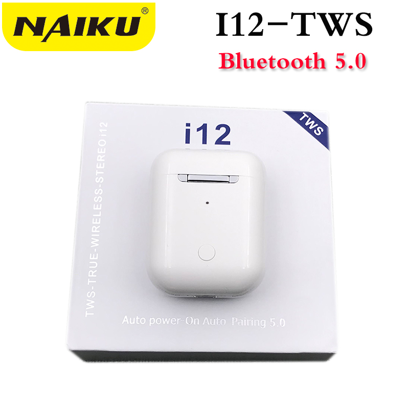 Drop shipping i12 <font><b>TWS</b></font> <font><b>Bluetooth</b></font> <font><b>5.0</b></font> Earphone Double Calls Smart Touch Earphones For iPhone Pk <font><b>I9s</b></font> I7s <font><b>I10</b></font> <font><b>Earbuds</b></font> Headphone image