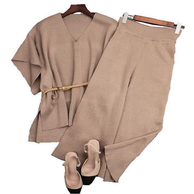 Mulheres desfile de moda de inverno de espessura de alta qualidade ternos manga batwing superdimensionada calças Twinset definir