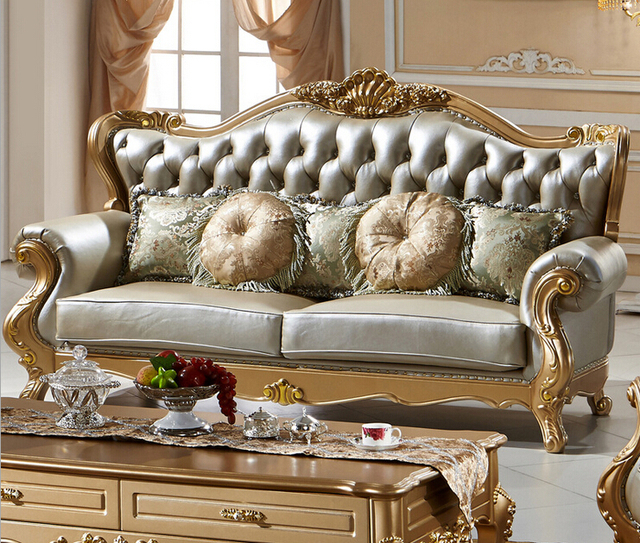 Modern Style Classic Luxury Chesterfiel Leather Living