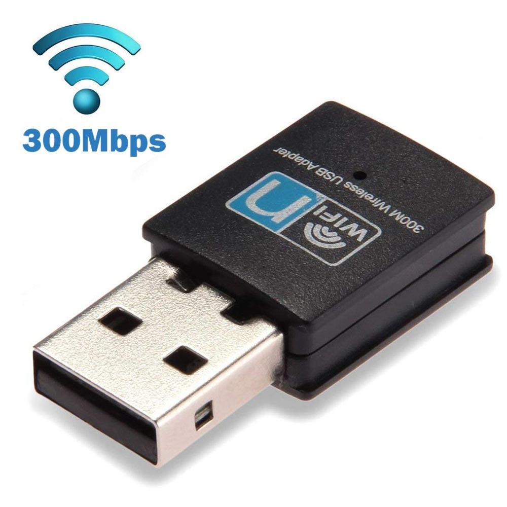 Wireless Lan Network Card Adapter Wifi Dongle for Desktop Laptop PC Windows//MAC//OS 300Mbps USB WiFi Adapter