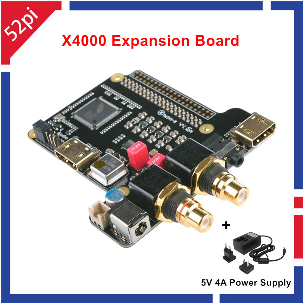 New Arrival X4000 Expansion Board for Raspberry Pi 1 Model B+/ 2 Model B / 3 Model B With Power Supply raspberry pi 3 digital sound card hifi digi expansion board i2s spdif module acrylic case for raspberry pi 2 for raspberry pi b