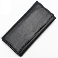 Men's leather multi function clutch First layer leather long double layer large capacity wallet Vertical square shaped clutch