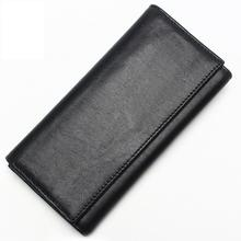 Mens leather multi-function clutch First-layer long double-layer large-capacity wallet Vertical square-shaped