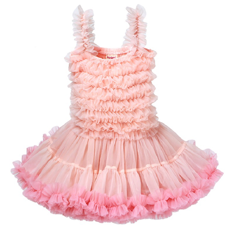 Fashion Girls Fluffy Dress Birthday Party Baby Princess Pettiskirt Dress Ruffled Ball Gown Tutu Dress RT460