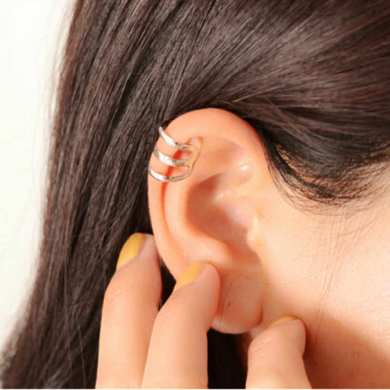 2019 nova moda punk rock orelha punhos brincos sem brincos das mulheres dos homens jóias festa orelha clipe