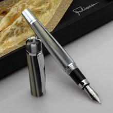Fuliwen 2060 Celluloid Fountain Pen Fashion White-Black Stripes Medium Nib Writing Gift Pen Business Office Home School Supplies