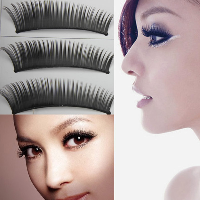 High Quality 10 Pairs Long Black Thick False Fake Eyelashes Extension Lashes for Club MakeUp Sale
