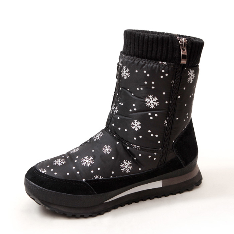 Women boots 2017 new arrivals high quality waterproof snow boots thick plush winter shoes platform non-slip women boots цена