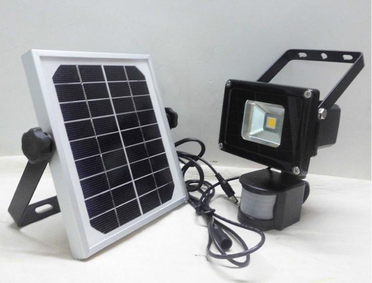 PIR Motion Sensor Garden Security Path Wall Lamp Outdoor Led Spot Lighting  10W Solar Powered LED Flood Light