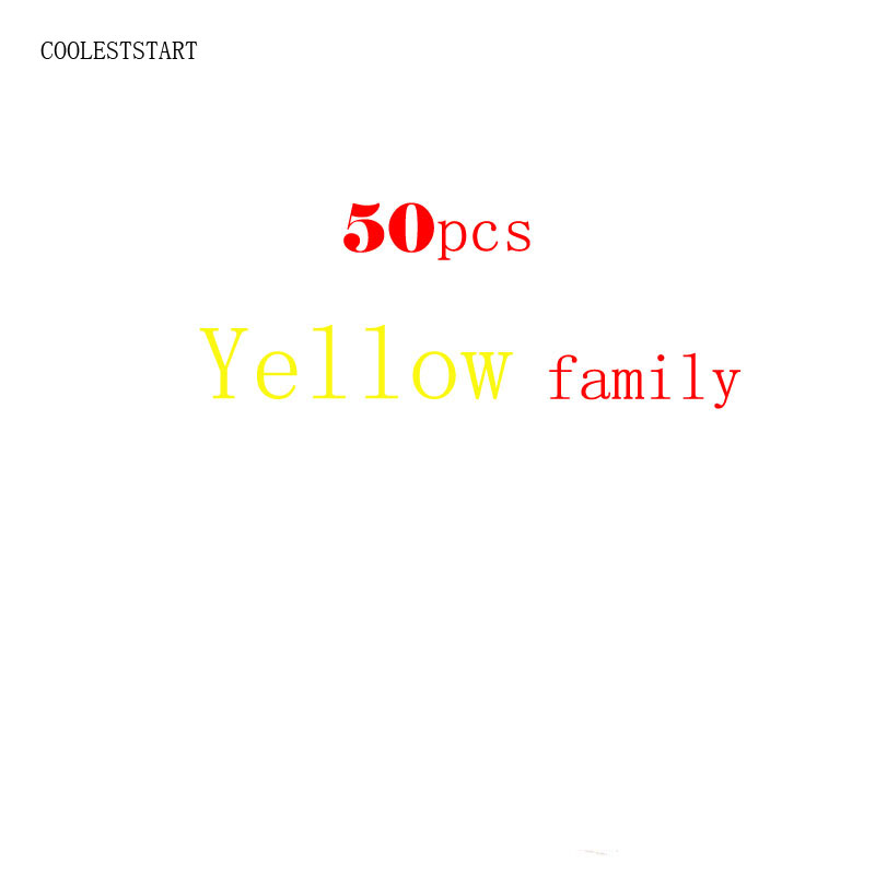 50pcs Yellow family