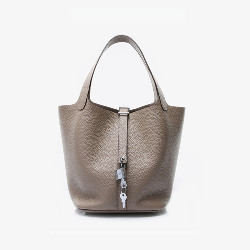 Classic Type Famous Luxury Brand Design Women Handbag High Quality Genuine Togo Leather Ladies Casual Tote Small Lovely Lock Bag vicuna polo promotion famous brand handbag high quality pu leather men tote bag borse classic sewing thread design men sling bag