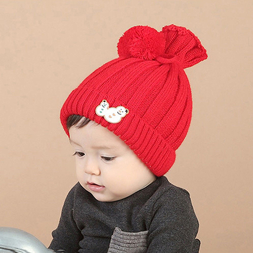 06294b3e675 Newborn Baby Boy Girl Kids Winter Warm Hat Pom Bobble Knit Crochet Beanie  Cap