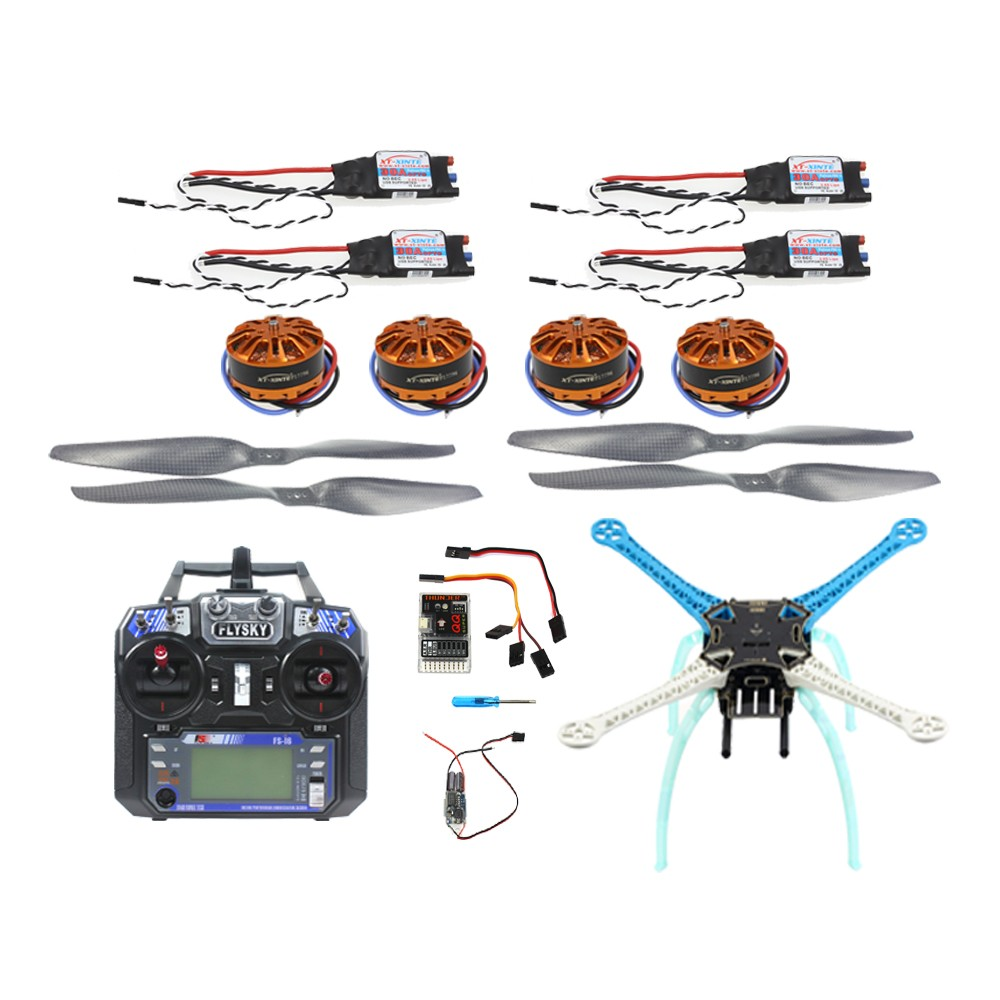 QQ Super Flight Controller Multicopter 500mm Multi-Rotor 700KV Motor 30A ESC 6CH 9CH Transmitter NO Battery Charger F08191-R цена
