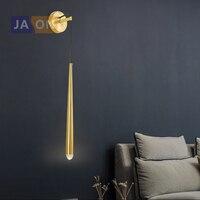 LED American Iron Crystal Golden Black Designer LED Wall lamp Wall Light wireless wall lamp For Foyer Bedroom Corridor