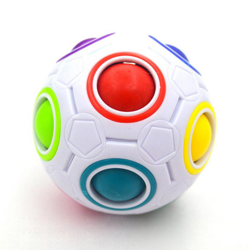 Hot Spherical Magic Cube Toys Novelty Rainbow Ball Football Puzzle Cubes Learning & Educational Toys For Children Kids