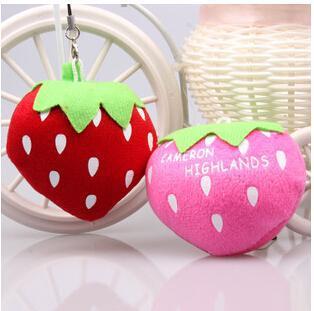 Cute cartoon Plush strawberry cellphone Small pendant Baby