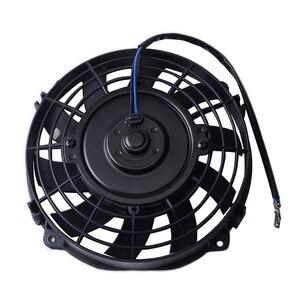"Image 3 - SPEEDWOW אוניברסלי 7 ""מנוע מנוע רדיאטור קירור חשמלי למשוך לדחוף מאוורר רדיאטור מנוע קירור מאוורר 12V 80W"