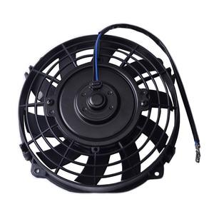 "Image 3 - SPEEDWOW Universal 7"" Motor Engine Radiator Oil Cooler Cooling Electric Pull Push Fan Radiator Engine Cooling Fan 12V 80W"
