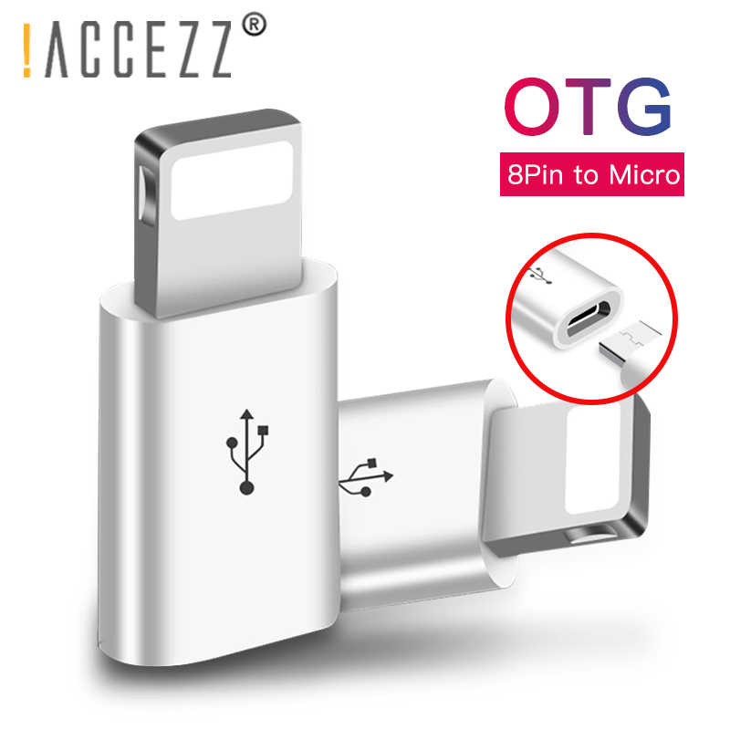 ! ACCEZZ Mini OTG oświetlenie do Micro USB adapter do Apple dla iPhone XS MAX XR X 7 8 6 S 6 Plus kabel do ładowarki Data Sync złącze