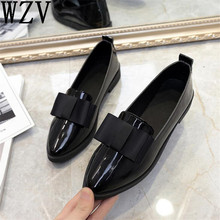 2018 Classic Brand Shoes Women Casual Pointed Toe Black Oxford Shoes for Women Flats Comfortable Slip on Women Shoes E147