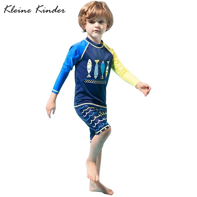 Kleine Kinder niños traje de baño 2-16 AÑOS NIÑOS de manga larga niños traje  de niño traje de baño traje de natación traje 1f9d45f49e2