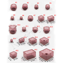 12 шт колпачки для ног стула Ассорти круглые квадратные прямоугольные фетровые силиконовые напольные протекторы мебель стол покрытия для ног темно-красный