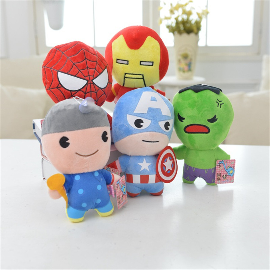 ФОТО movies marvel avengers  kids stuffed plush infant  toys  anime america spider  man cartoon  baby toys new year gift toy   to118