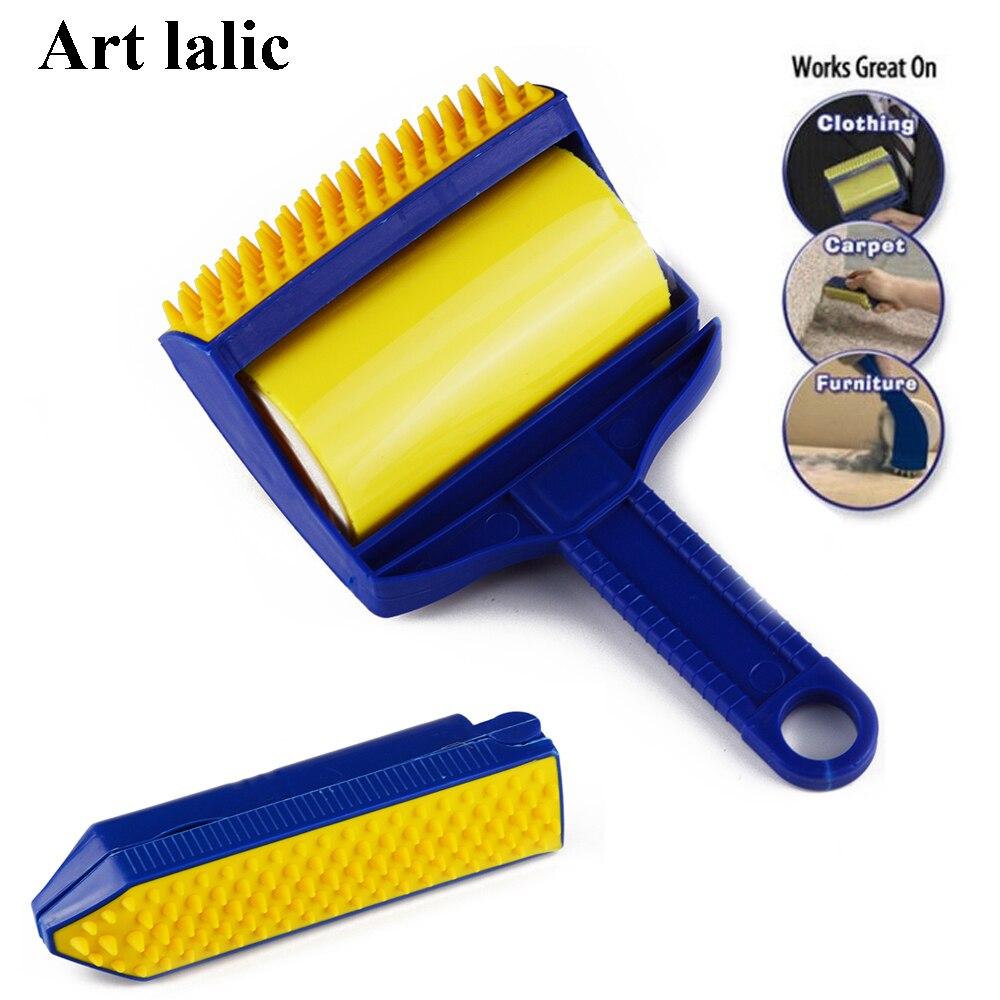 2 Pz/set Riutilizzabile Sticky Strumento Picker Cleaner Lint Roller Pet Hair Remover Brush Abbigliamento Carpet Mobili