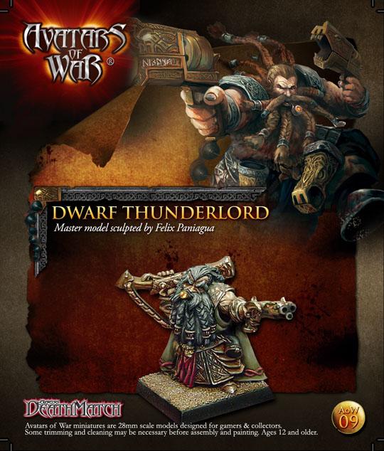 WFB Dwarf Hero Guns Daren  28mm